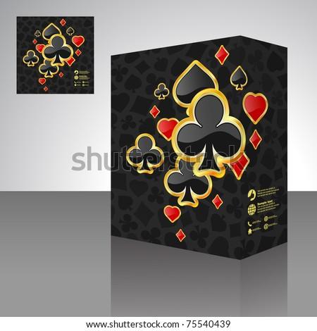 Vector illustration of card symbolic. Packaging box. Abstract illustration. - stock vector