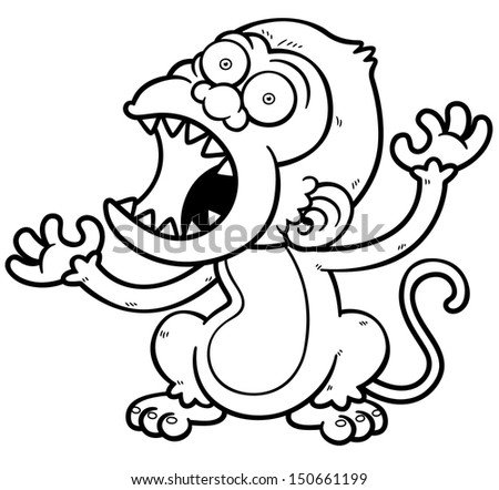 scary monkey coloring pages | Angry primate Stock Photos, Images, & Pictures | Shutterstock