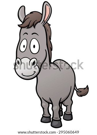 Vector illustration of Cartoon burro - stock vector