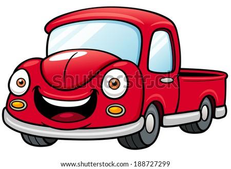 Cartoon Images of Pickup Trucks Cartoon Car Pickup Stock