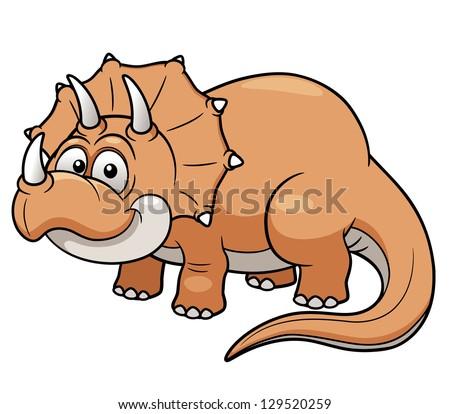 Vector illustration of Cartoon dinosaur - stock vector