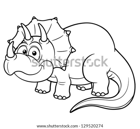 Vector Illustration Cartoon Dinosaur Coloring Book Stock Vector ...