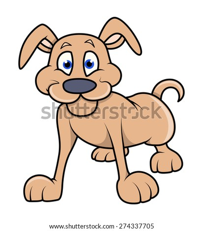 Vector Illustration of Cartoon Dog - stock vector