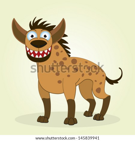 Vector Illustration of Cartoon Hyena - stock vector
