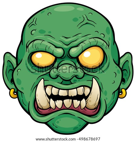 vector illustration cartoon zombie face stock vector 498678697 rh shutterstock com scary comic face scary cartoon faces images