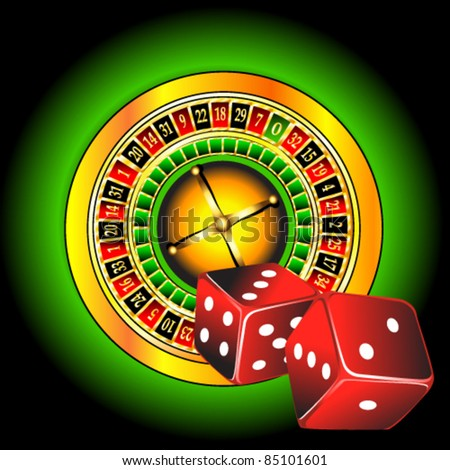 vector illustration of casino - stock vector