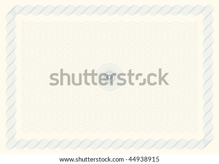 Vector Illustration of Certificate Background (line blends intact for easy editing) - stock vector