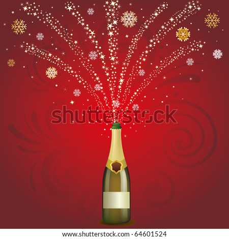 vector illustration of champagne holiday - stock vector
