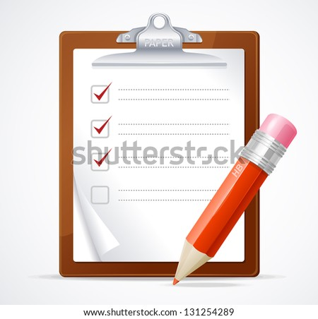 Vector illustration of check list - stock vector