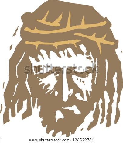 Vector illustration of Christ - stock vector