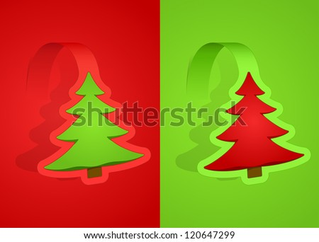 Vector illustration of christmas cards - stock vector