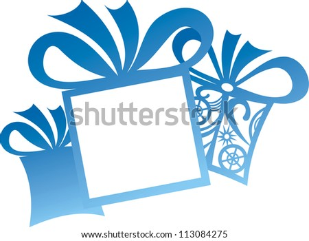 Vector illustration of christmas presents sticker - stock vector