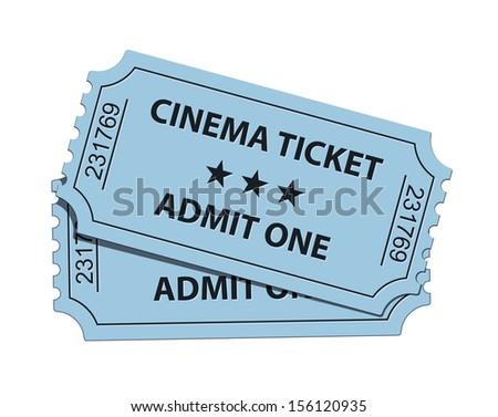Vector illustration of cinema ticket - stock vector