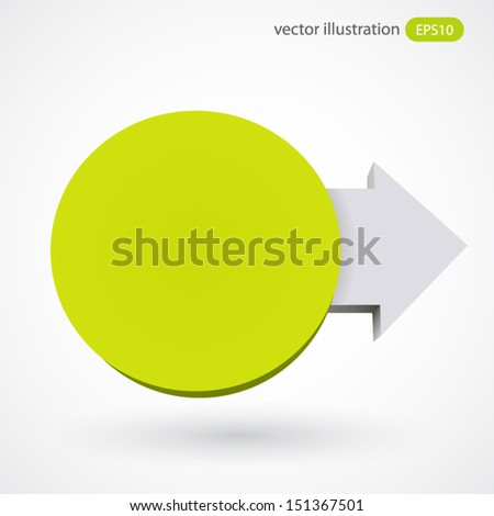 Vector illustration of circle with arrow - stock vector