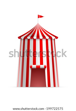 Circus Tent Flag Vector Illustration Stock Vector
