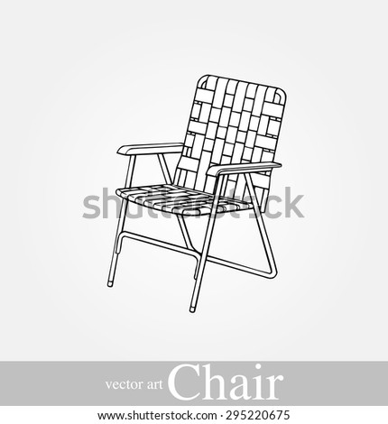Vector illustration of classic chaise on background