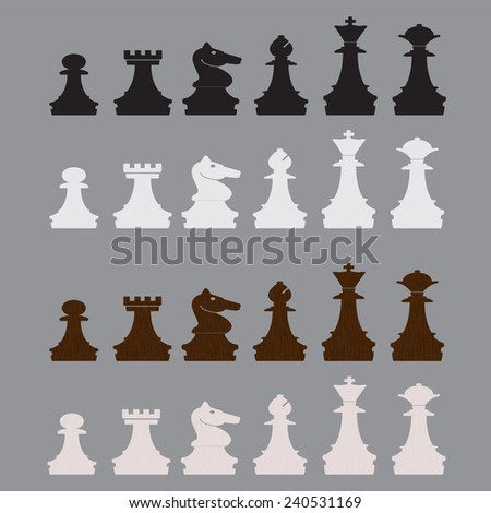 vector illustration of classic chess pieces