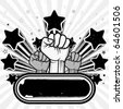 vector illustration of clenched fist - stock vector