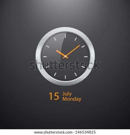 Vector  Illustration of Clock Widget - stock vector