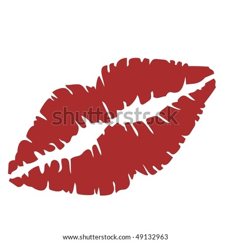 Vector illustration of close up of lips - stock vector