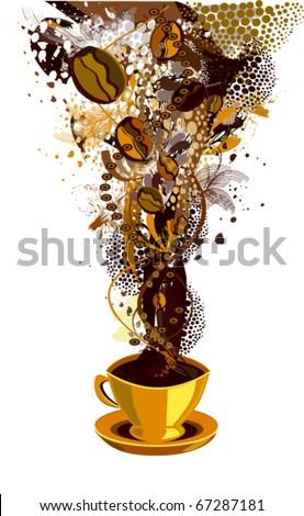 vector illustration of coffee - stock vector