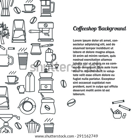 Vector Illustration of Coffee Outline concept for Design, Website, Background, Banner. Coffee beans Element Template for your Restaurant Menu or Infographic.  - stock vector