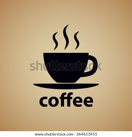 Vector illustration of coffee symbol icon. - stock vector