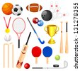 vector illustration of collection of different sports icon - stock vector