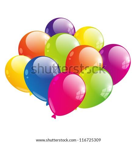 Vector illustration of color balloon - stock vector
