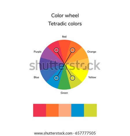 Vector Illustration Of Color Circle Infographics Palette Tetradic