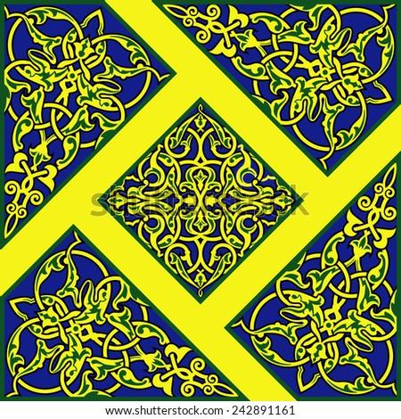 Vector illustration of color persian ornament - stock vector