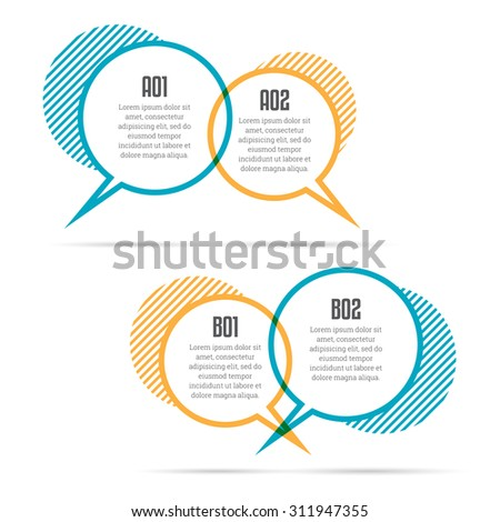 Vector illustration of color talk balloons copyspace. - stock vector