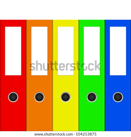 Vector illustration of colorful binders - stock vector