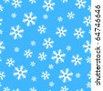 Vector - Illustration of colorful christmas decoration present paper with snow flakes, seamless - stock photo