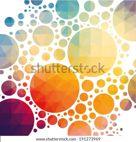 vector illustration of colorful geometric background with circles - stock vector