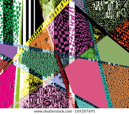 Vector illustration of colorful graphic pattern.