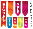 Vector illustration of colorful sale banners - stock vector