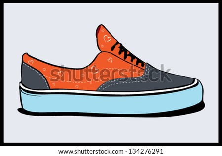 Vector illustration of colorful sneakers - stock vector