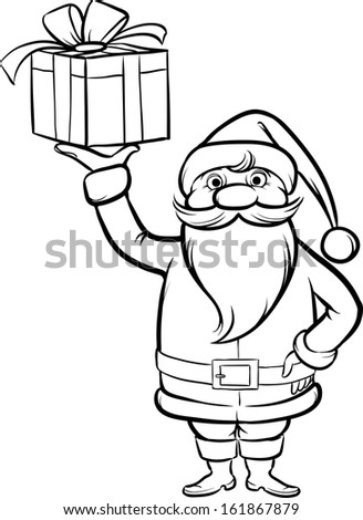 how to draw santa claus with gifts