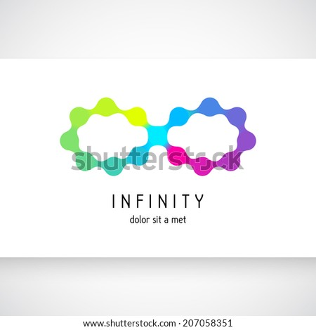 Vector illustration of colors Infinity Symbols - stock vector