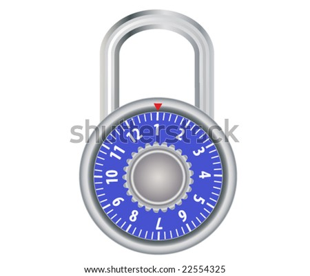 vector illustration of combination lock