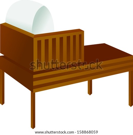 Vector illustration of commode