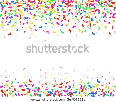 Vector Illustration of Confetti decoration colorful for Design, Website, Background, Banner. Holiday party Element Template. Festival object isolated