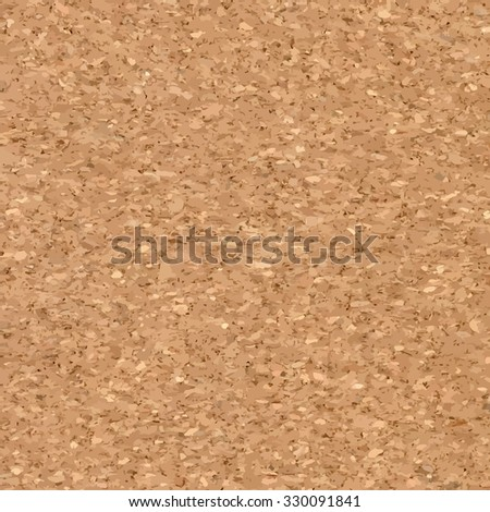 Vector Illustration of Cork board Background - stock vector