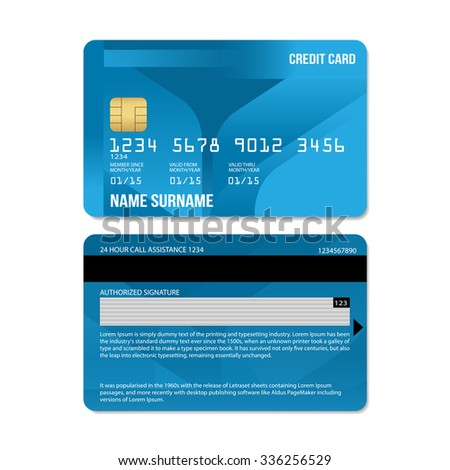 Vector Illustration Of  Credit Card : Leaf Collections - stock vector