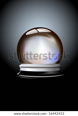 Vector illustration of Crystal ball (fortune teller's ball) on gradient background - stock vector