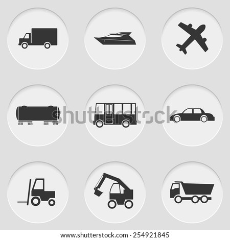 Vector illustration of cut elements with icons - stock vector