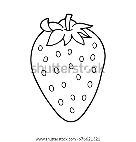 Vector Illustration Cute Cartoon Strawberry Children Stock Vector ...