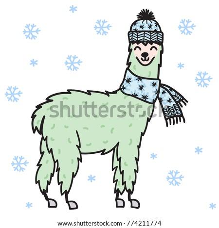 how to draw a cute lamma