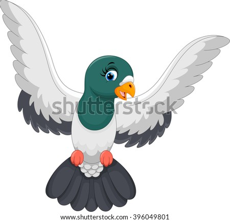 Pigeon illustration - photo#9